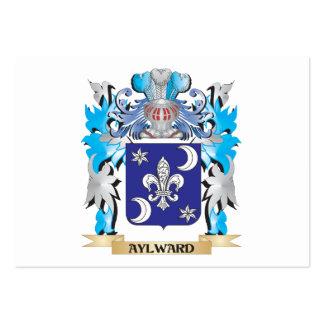 Escudo de armas de Aylward Tarjetas De Negocios