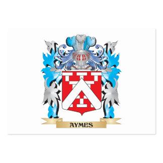 Escudo de armas de Aymes Tarjetas De Negocios