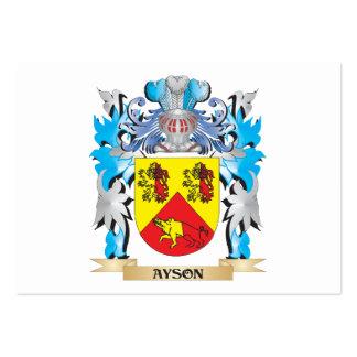 Escudo de armas de Ayson Plantilla De Tarjeta De Visita
