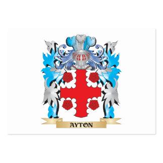 Escudo de armas de Ayton Tarjetas De Visita