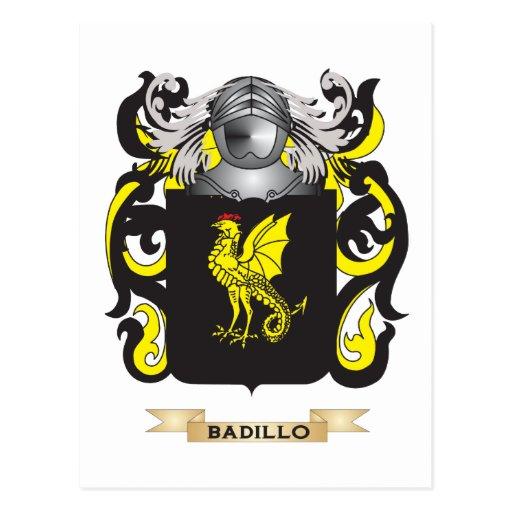 Escudo de armas de Badillo (escudo de la familia) Postal