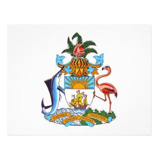 Escudo de armas de Bahamas Tarjetón