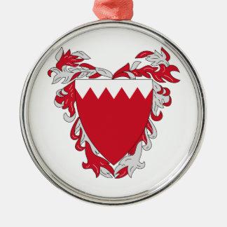 Escudo de armas de Bahrein Adorno Navideño Redondo De Metal