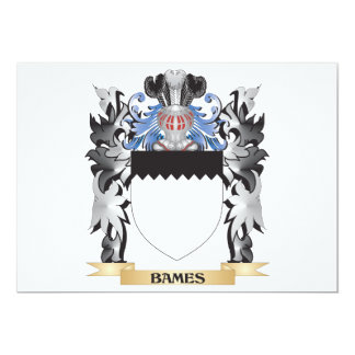 Escudo de armas de Bames - escudo de la familia Invitación 12,7 X 17,8 Cm