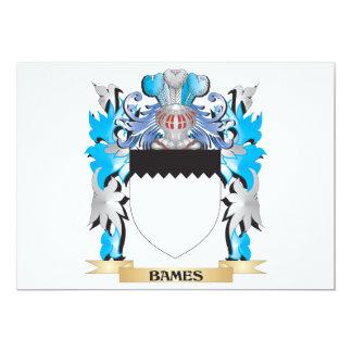 Escudo de armas de Bames Invitación 12,7 X 17,8 Cm