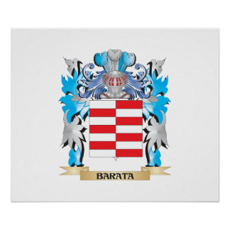 Escudo de armas de Barata Posters