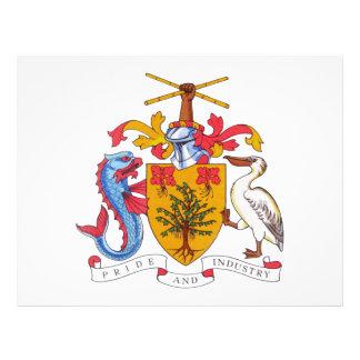 Escudo de armas de Barbados Tarjetas Publicitarias