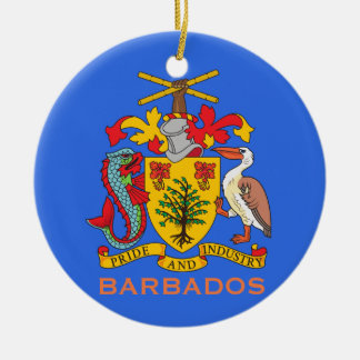 Escudo de armas de Barbados y ornamento del