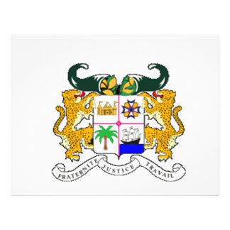 Escudo de armas de Benín Flyer Personalizado