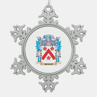 Escudo de armas de Bieber Adorno De Peltre En Forma De Copo De Nieve