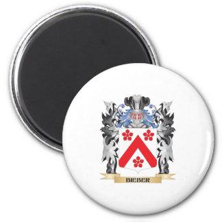 Escudo de armas de Bieber - escudo de la familia Imán Redondo 5 Cm