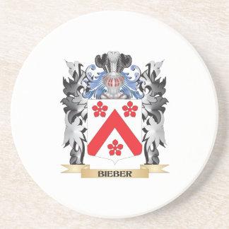 Escudo de armas de Bieber - escudo de la familia Posavaso Para Bebida