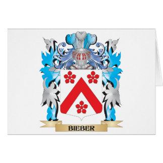 Escudo de armas de Bieber Tarjeton