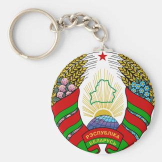 Escudo de armas de Bielorrusia Llavero Redondo Tipo Chapa