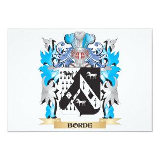 Escudo de armas de Borde Invitaciones Personales