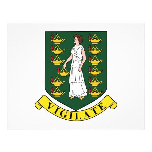 Escudo de armas de British Virgin Islands Tarjetones