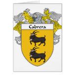 Escudo de armas de Cabrera/escudo de la familia (c Tarjetas