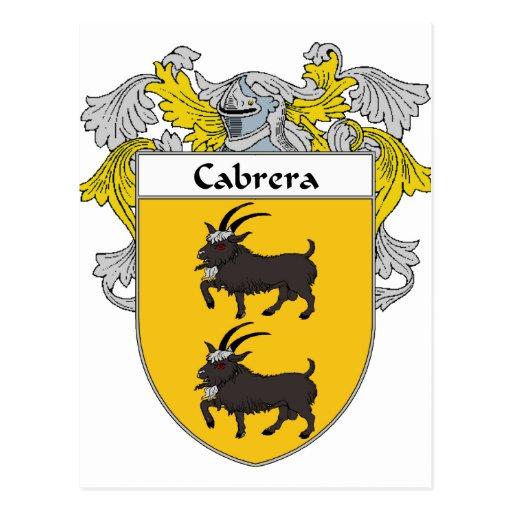 Escudo de armas de Cabrera/escudo de la familia (c Postales