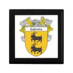 Escudo de armas de Cabrera/escudo de la familia Cajas De Joyas