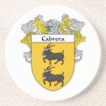 Escudo de armas de Cabrera/escudo de la familia Posavasos Para Bebidas