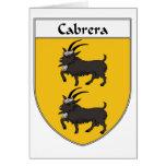 Escudo de armas de Cabrera/escudo de la familia Tarjetón