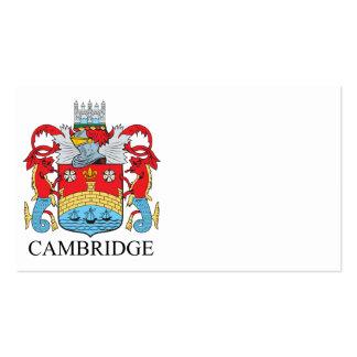 Escudo de armas de Cambridge Tarjetas De Visita