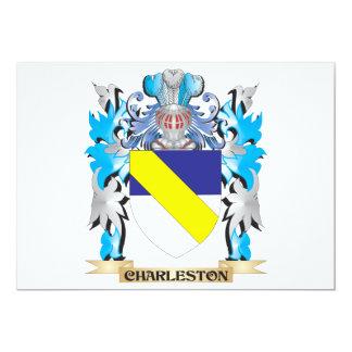 Escudo de armas de Charleston - escudo de la Invitación 12,7 X 17,8 Cm