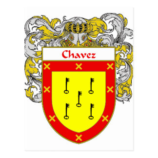 Escudo de armas de Chavez (cubierto) Postal