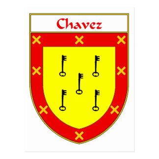 Escudo de armas de Chavez/escudo de la familia Postal