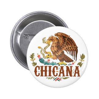 Escudo de armas de Chicana México Chapa Redonda De 5 Cm
