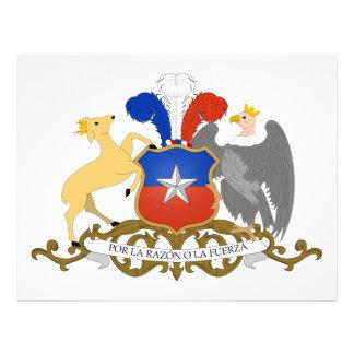 Escudo de armas de Chile Tarjetas Informativas