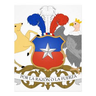 Escudo de armas de Chile Tarjeta Publicitaria