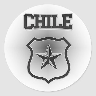 Escudo de armas de Chile Pegatina Redonda