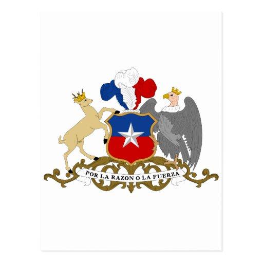 Escudo de armas de Chile Postales