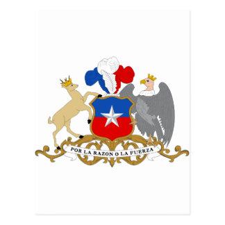 Escudo de armas de Chile Tarjeta Postal