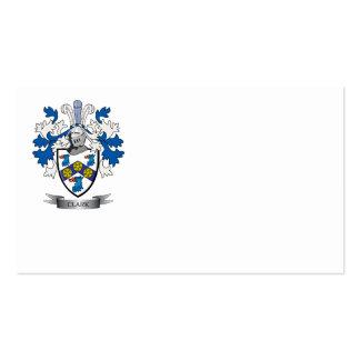 Escudo de armas de Clark Tarjetas De Visita