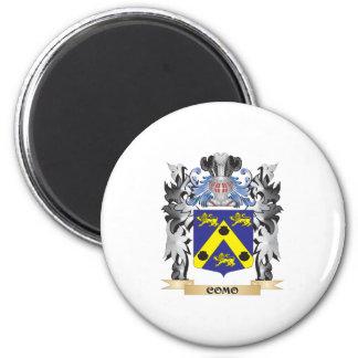 Escudo de armas de Como - escudo de la familia Imán Redondo 5 Cm