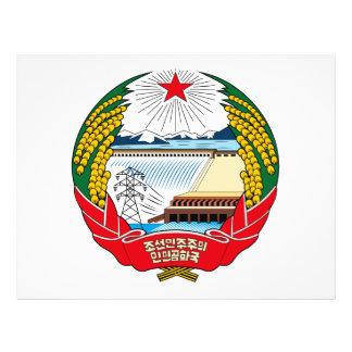 Escudo de armas de Corea del Norte Tarjeta Publicitaria