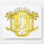 Escudo de armas de Costa de Marfil Alfombrillas De Ratones
