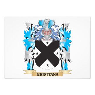 Escudo de armas de Cristiana - escudo de la famili