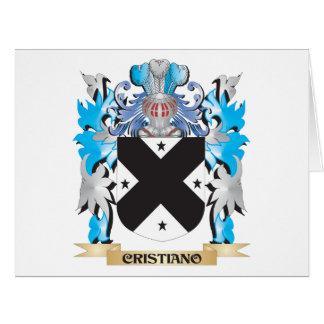 Escudo de armas de Cristiano - escudo de la famili