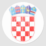 Escudo de armas de Croacia Pegatinas Redondas