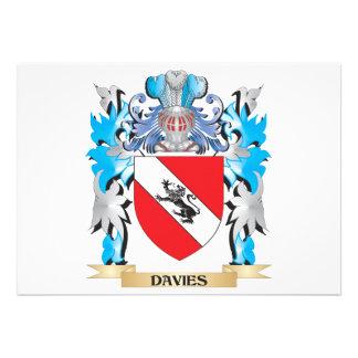 Escudo de armas de Davies - escudo de la familia