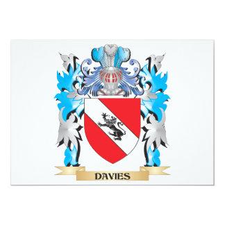 Escudo de armas de Davies - escudo de la familia Invitación 12,7 X 17,8 Cm