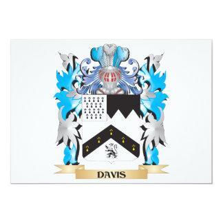 Escudo de armas de Davis - escudo de la familia Invitación 12,7 X 17,8 Cm