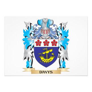 Escudo de armas de Davys - escudo de la familia