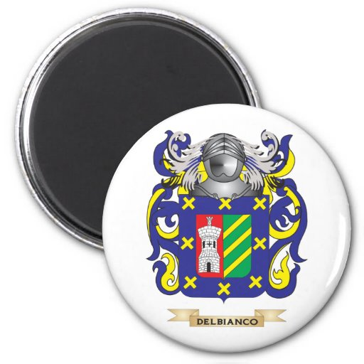 Escudo de armas de Del Bianco Imán De Frigorifico