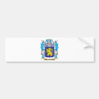 Escudo de armas de Del-Bosco - escudo de la Pegatina Para Coche