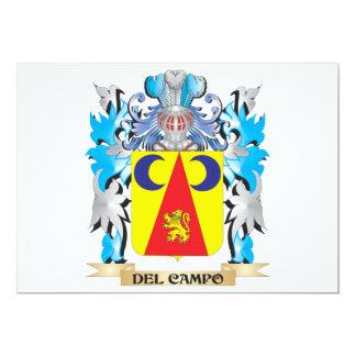 Escudo de armas de Del-Campo - escudo de la Invitación 12,7 X 17,8 Cm
