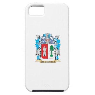 Escudo de armas de Del-Castello - escudo de la fam iPhone 5 Case-Mate Carcasa